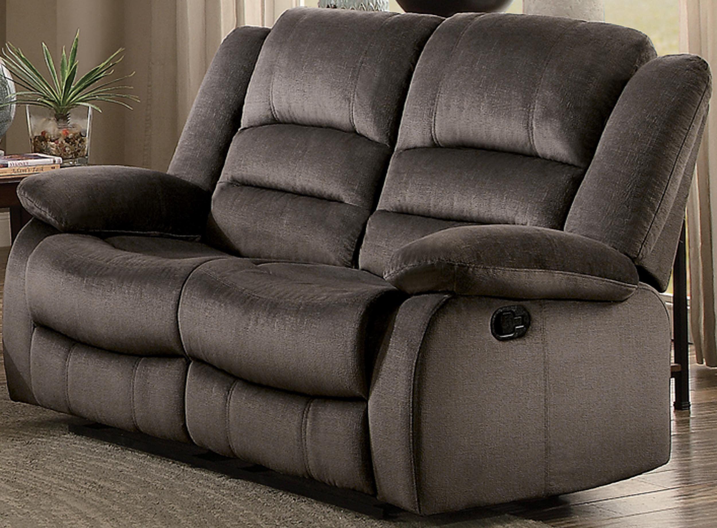 Homelegance jarita reclining loveseat polyester fabric