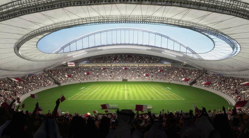 Qatar 2022 World Cup Stadium Khalifa International Stadium Designboom World Cup Stadiums Sports Arena 2022 Fifa World Cup