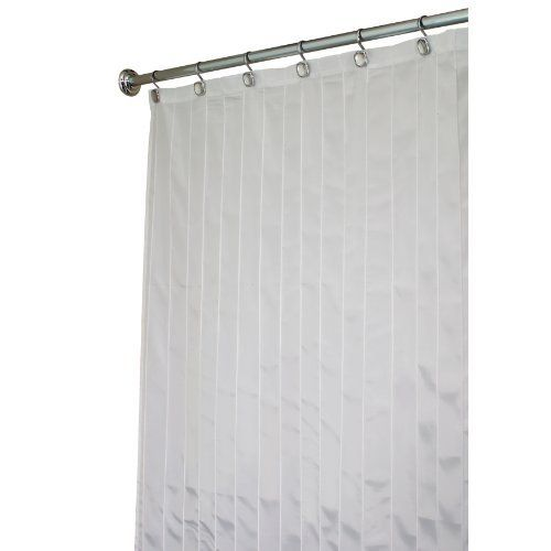 Interdesign Pin Tuck Stall Size Shower Curtain White 54 Inches X