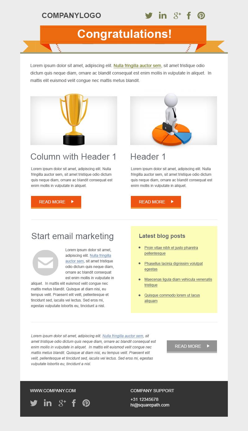 Award Template www.emercury.net #emailmarketing #templatesample #sampletemplate #awardtemplate #congratulationstemplate