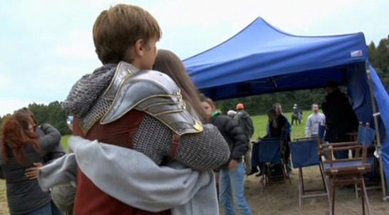 will and anna on set of PC