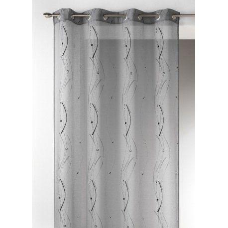Voilage esma 280 x 240 cm gris ou blanc voilage voilage Rideaux largeur 55 cm
