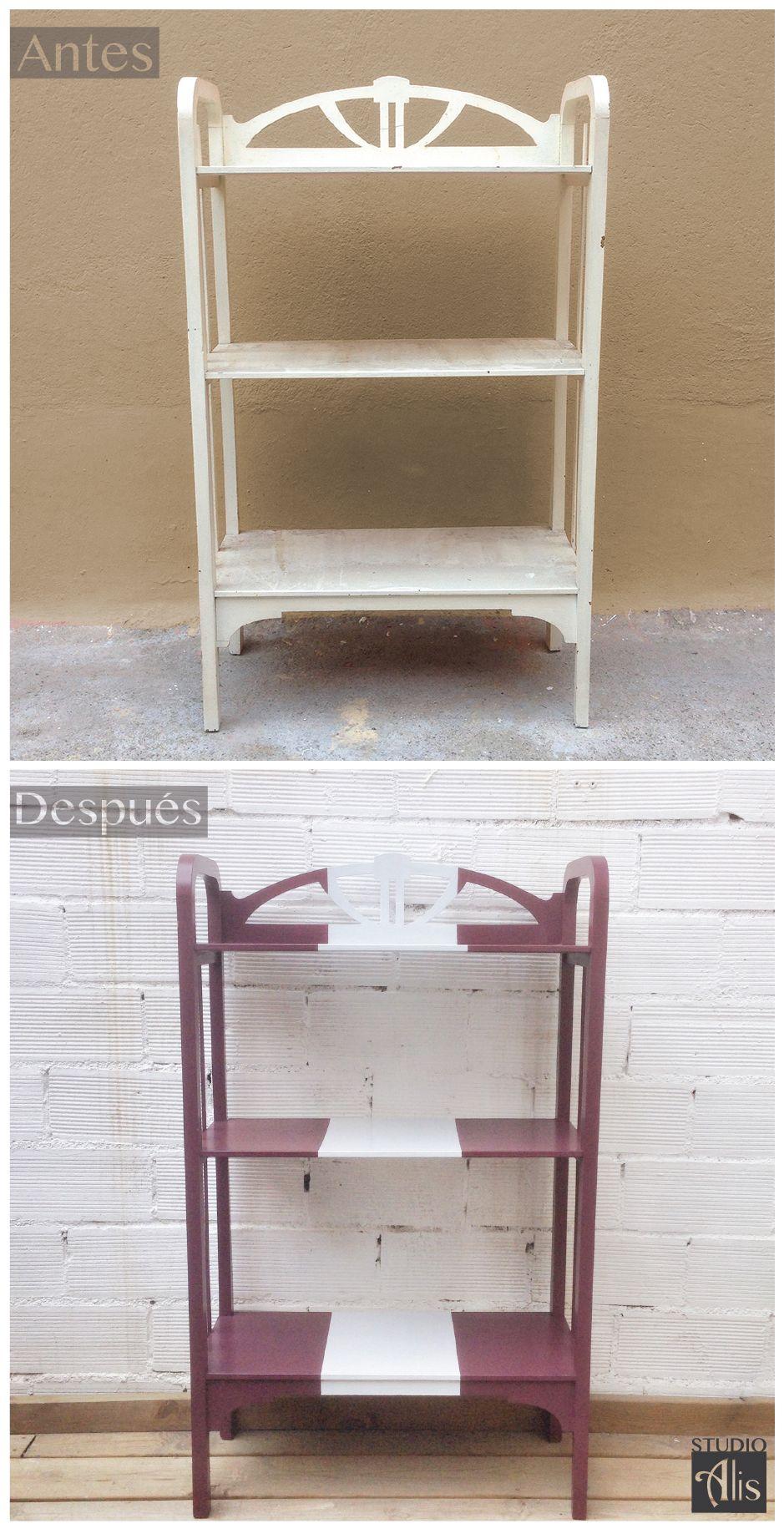Estanter a renovada y pintada studio alis barcelona antes y despu s studio alis muebles - Studio barcelona muebles ...