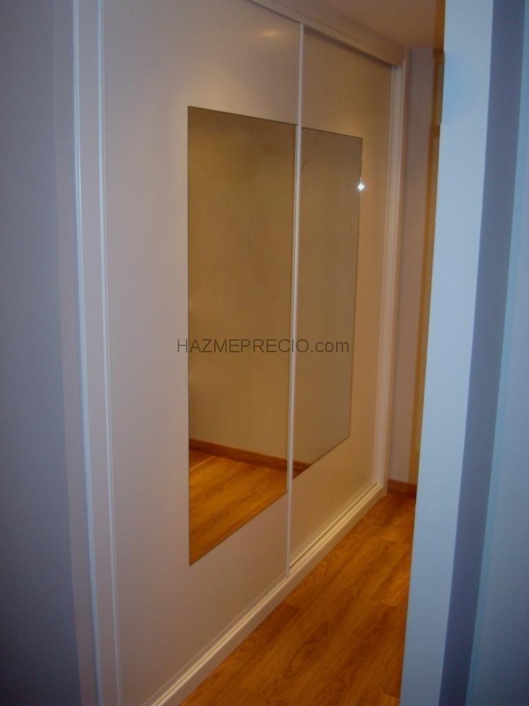 Puerta doble corredera espejo puertas armario - Puerta corredera doble ...