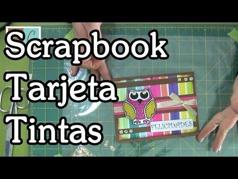 Tarjeta con tintas Tutorial Scrapbooking - YouTube