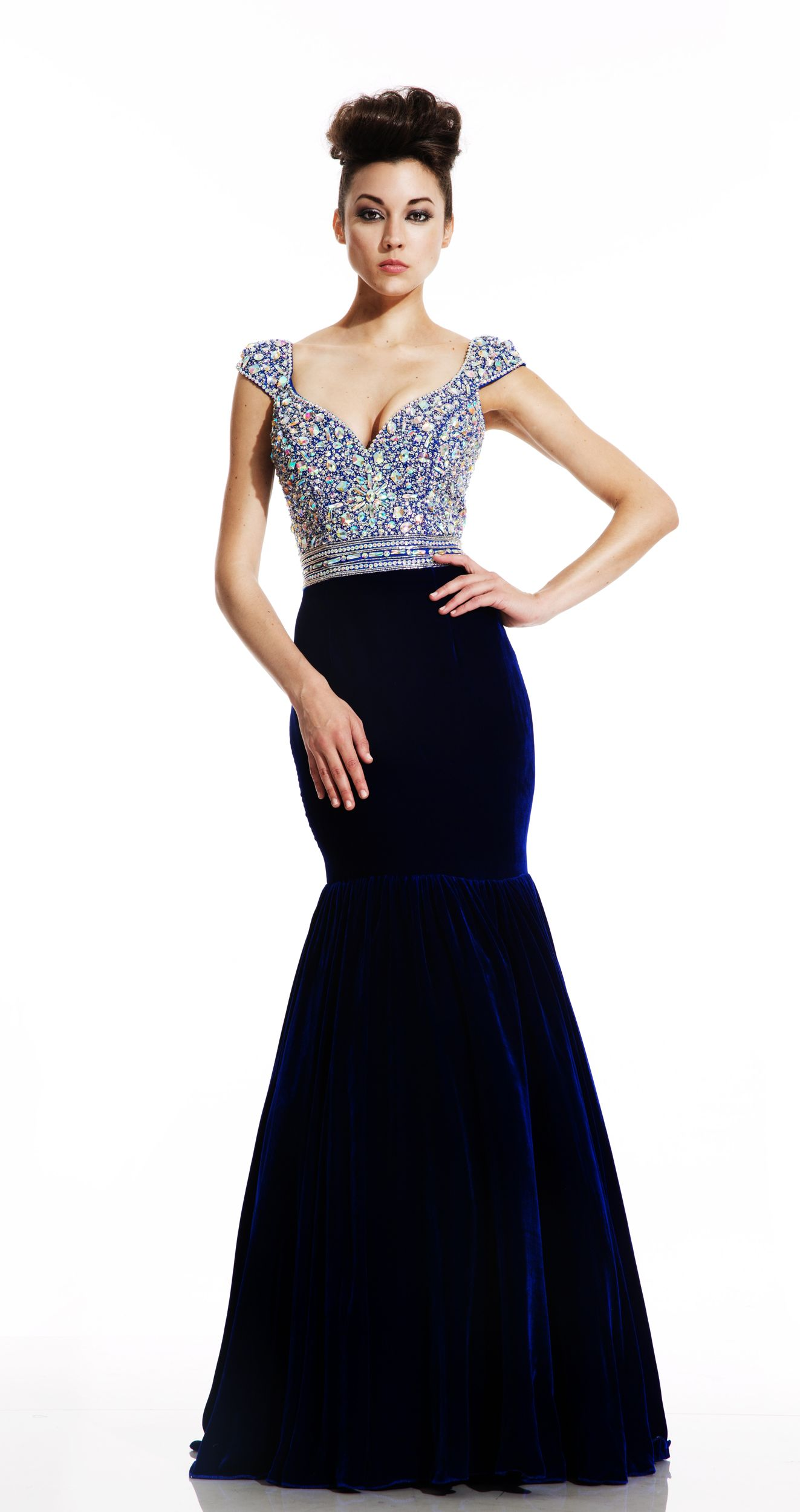 Blue Military Ball Dresses