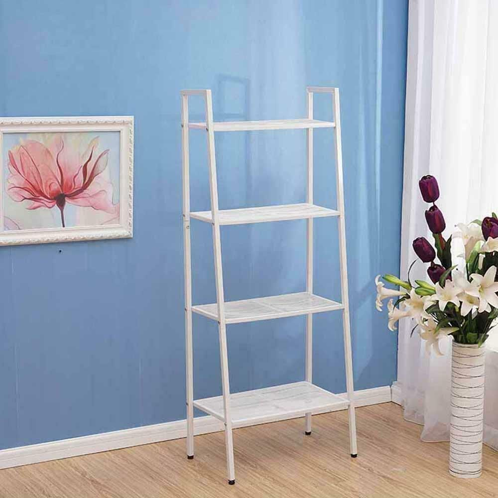 4Tier Bookcase Bookshelf Leaning Shelf Rack Shelving Ladder Storage Display 26  4Tier Bookcase Bookshelf Leaning Shelf Rack Shelving Ladder Storage Display 26