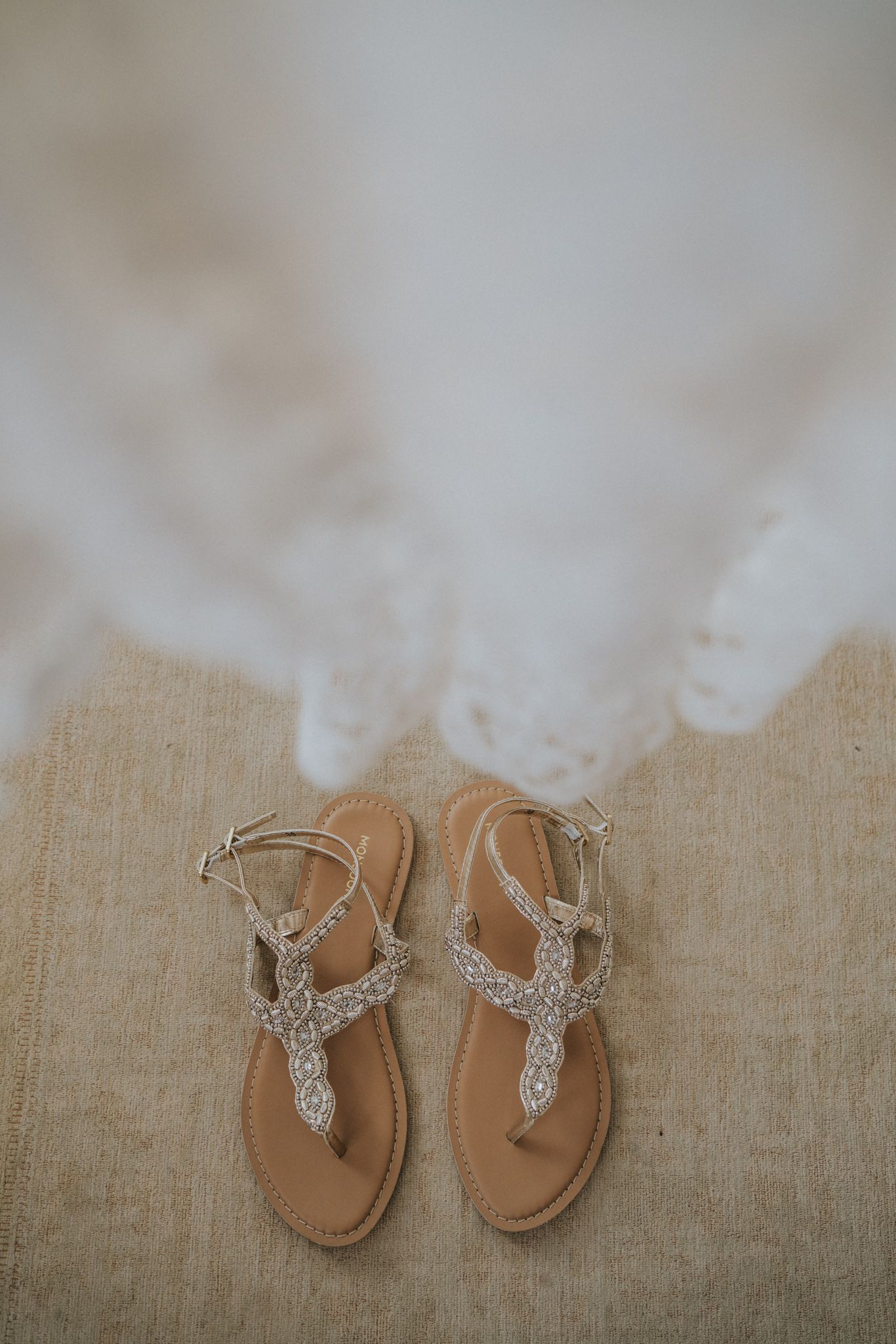 Monsoon Strappy Flat Sandals As Wedding Shoes With A Vintage
