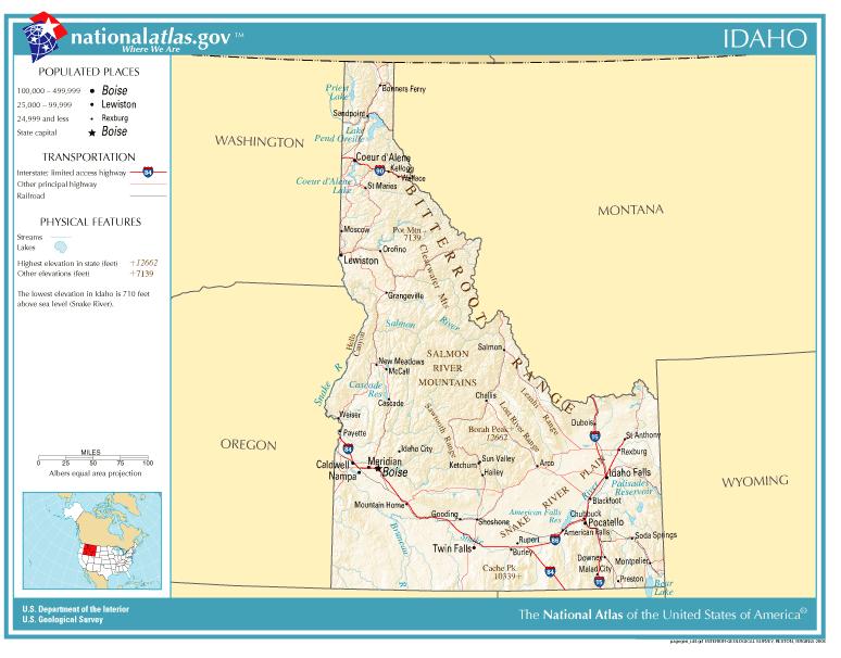 Map Of Idaho Idaho Scenic Byway Tetons