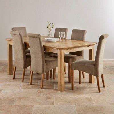 Edinburgh Natural Solid Oak Dining Set