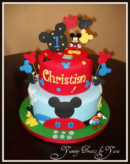 Superb Mickey Mouse Clubhouse Cake I Finally Found The Cake Torturi Personalised Birthday Cards Veneteletsinfo