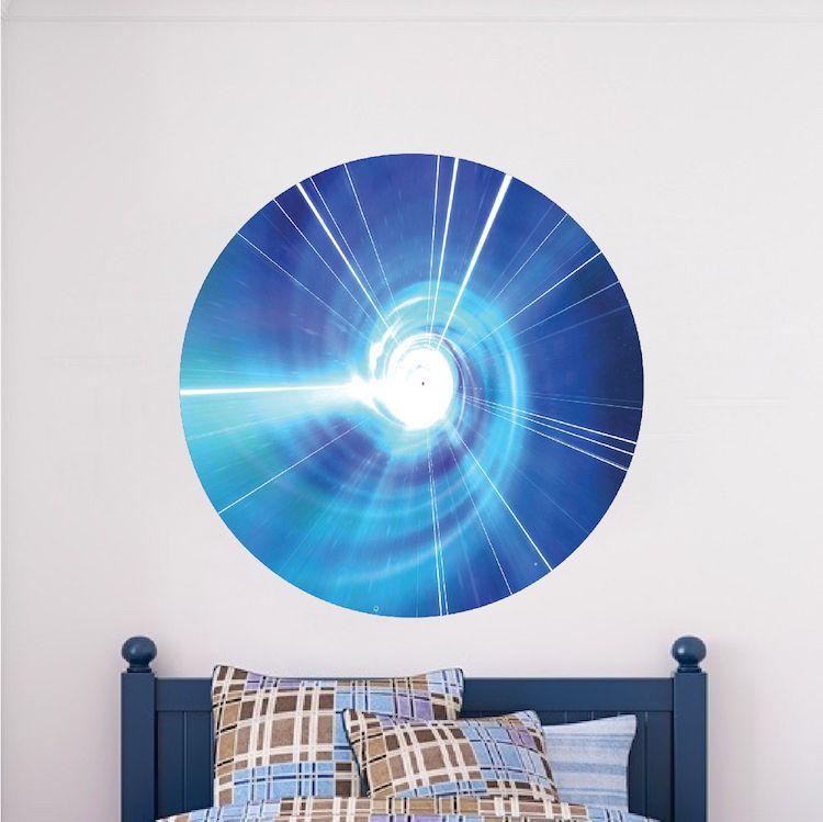 Time Warp Tardis Wall Decal Sticker   Dr. Who TARDIS Vinyl Wall Decal    Tardis
