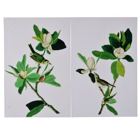 A Home Magnolia Blooms Wall Art, Set of 2, Size: 31.5 inchL x 1.57 inchW x 47 inchH