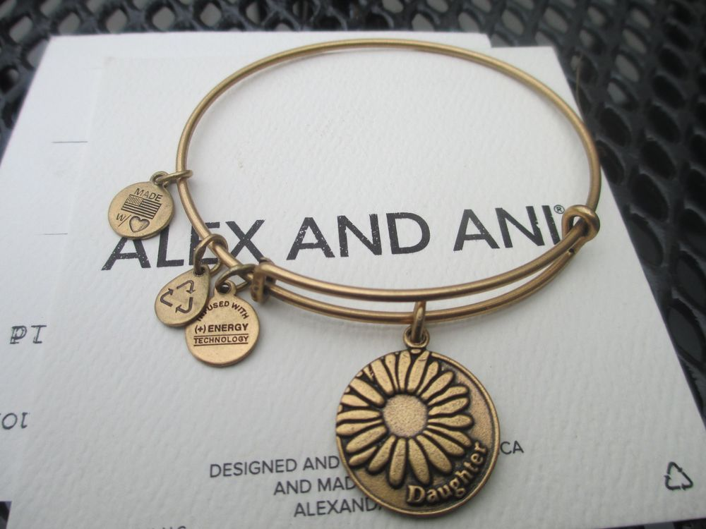 Alex And Ani Because I Love You Daughter Rafaelian Gold Bracelet New Alexandani Bangle