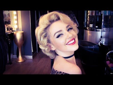 Authentic Marilyn Monroe Wet Roller Hair Set. Looks easy, I like the way it turns out