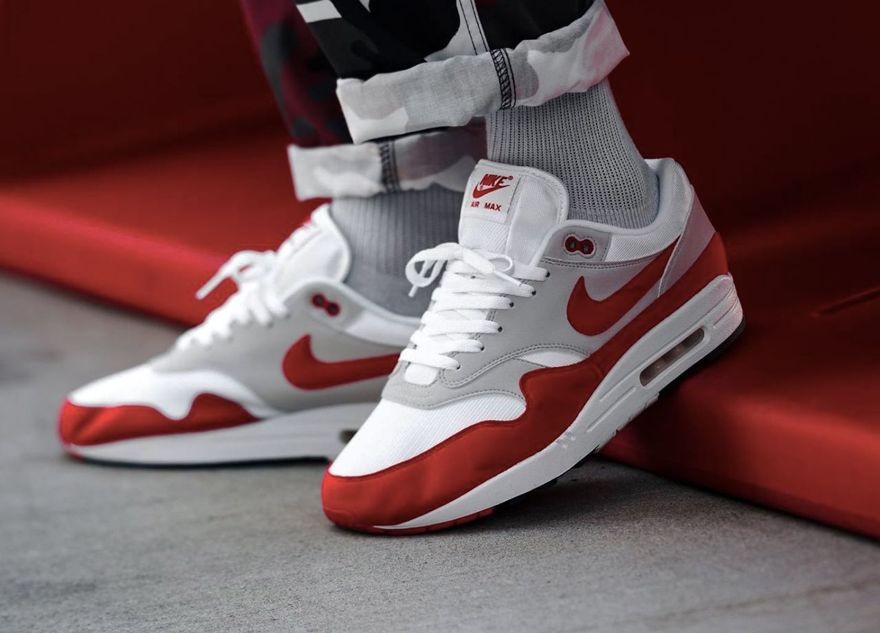 Nike Air Max 1 Air Max Day White Red For Women