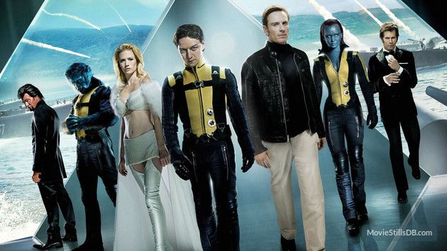 X Men First Class Promo Shot Of Kevin Bacon James Mcavoy X Men Man Movies Full Movies