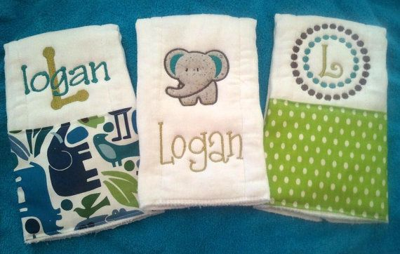 Personalized baby burp cloths gift ideas pinterest personalized baby burp cloths negle Images