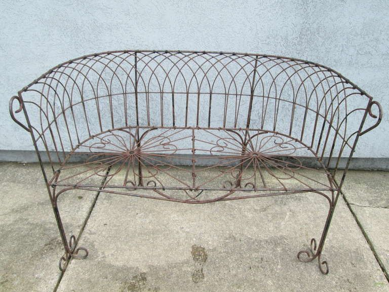 Astonishing Italian Antique Wrought Iron Bench Wrought Iron Bench Ibusinesslaw Wood Chair Design Ideas Ibusinesslaworg