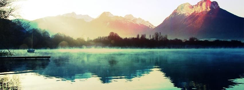 Mountain Lake Mist Facebook Timeline Profile Cover Hd Wall Shots Beautiful Landscape Wallpaper Landscape Pictures Scenery Photos