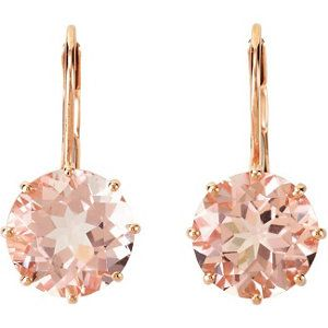 Rose Gold and Morganite Earrings rosegold Rose Gold Jewelry