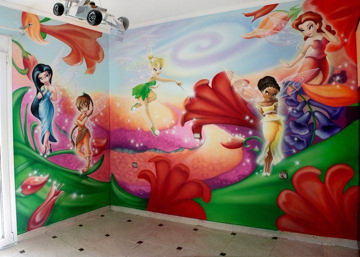 Tinkerbell Kinderzimmer ~ Tinkerbell room airbrush pinterest