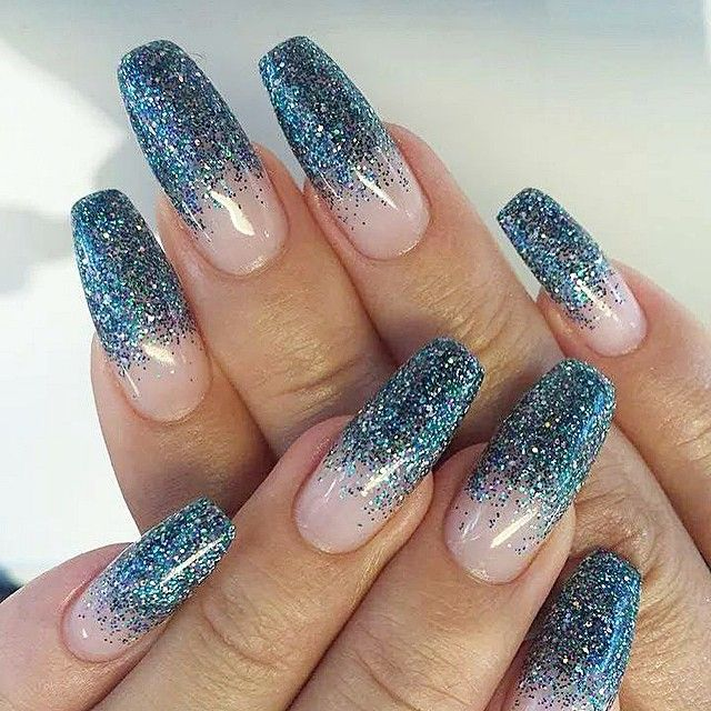 Glitter Fade Using Mermaid Glitter Gel From Light Elegance By Studioava Glitter Gel Gel Polish Brands Gel Polish Colors