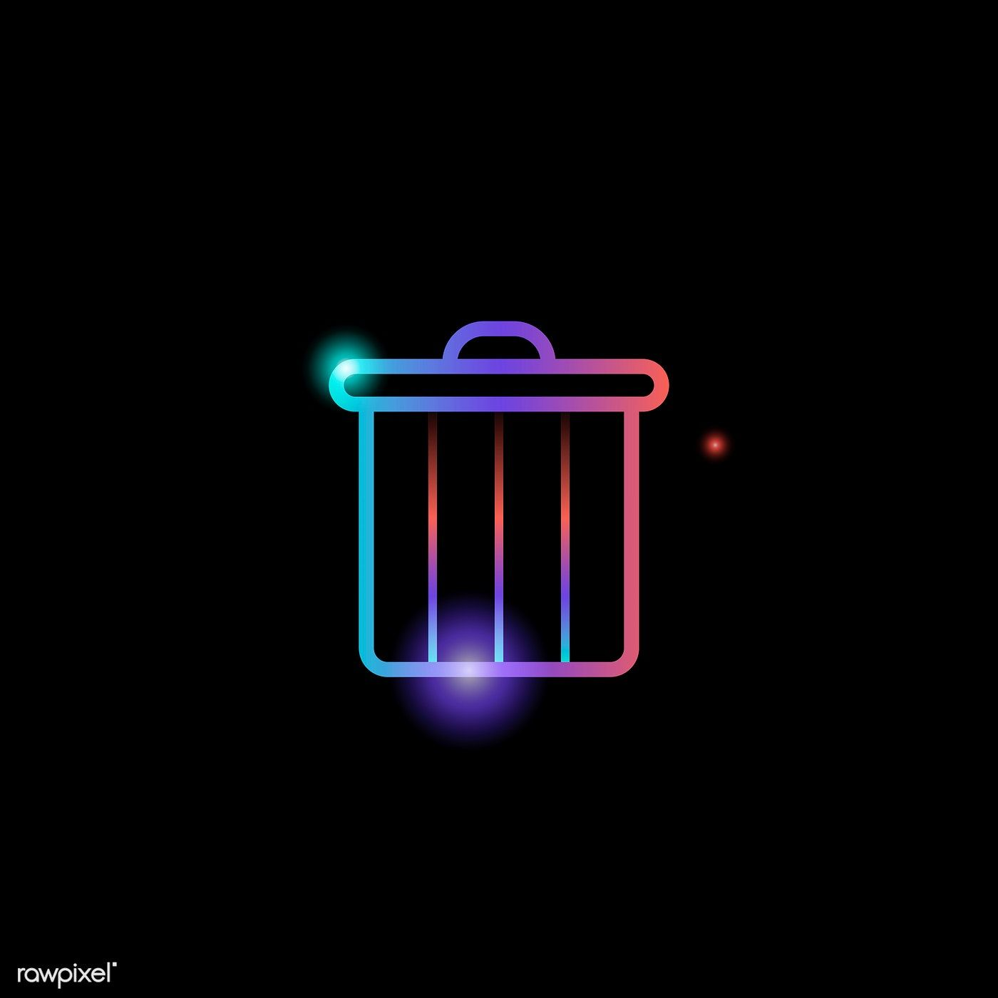 Download Premium Vector Of Delete Bin Social Media Icon Vector 931828 Social Media Icons Vector Social Media Icons Media Icon