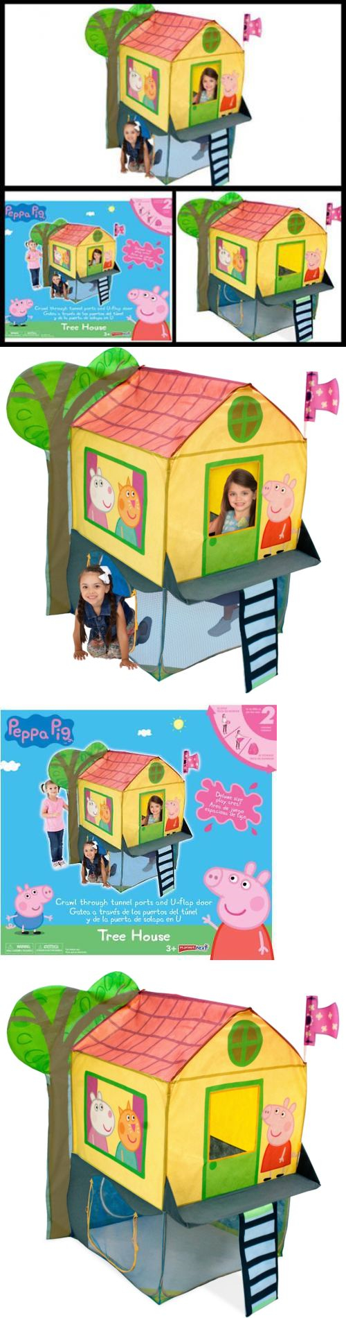 Play Tents 145997 Peppa Pig Tree House Kids Pretend Play Playhouses Indoor Outdoor Toy Tent  sc 1 st  Pinterest & Play Tents 145997: Peppa Pig Tree House Kids Pretend Play ...