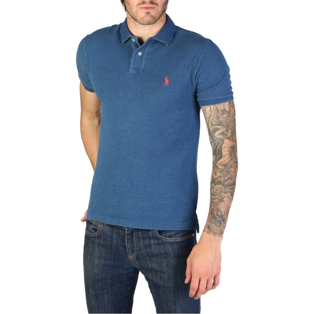 Ralph Lauren 710651933042 Men Polo Shirt Navy Blue Casual Outfit
