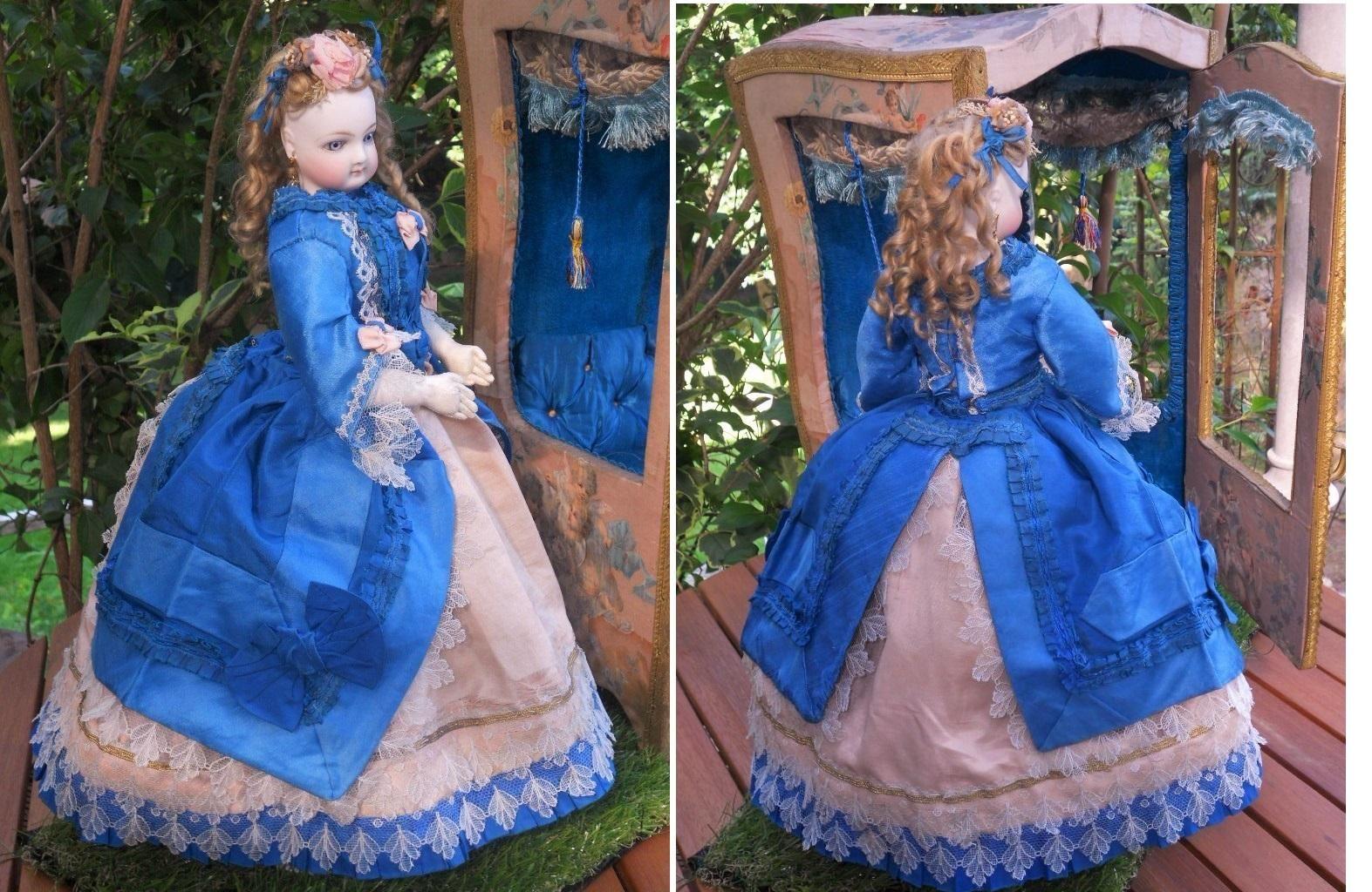 ~~~ Breathtaking All-Original French Poupee in Her Original Cabinet ~~~