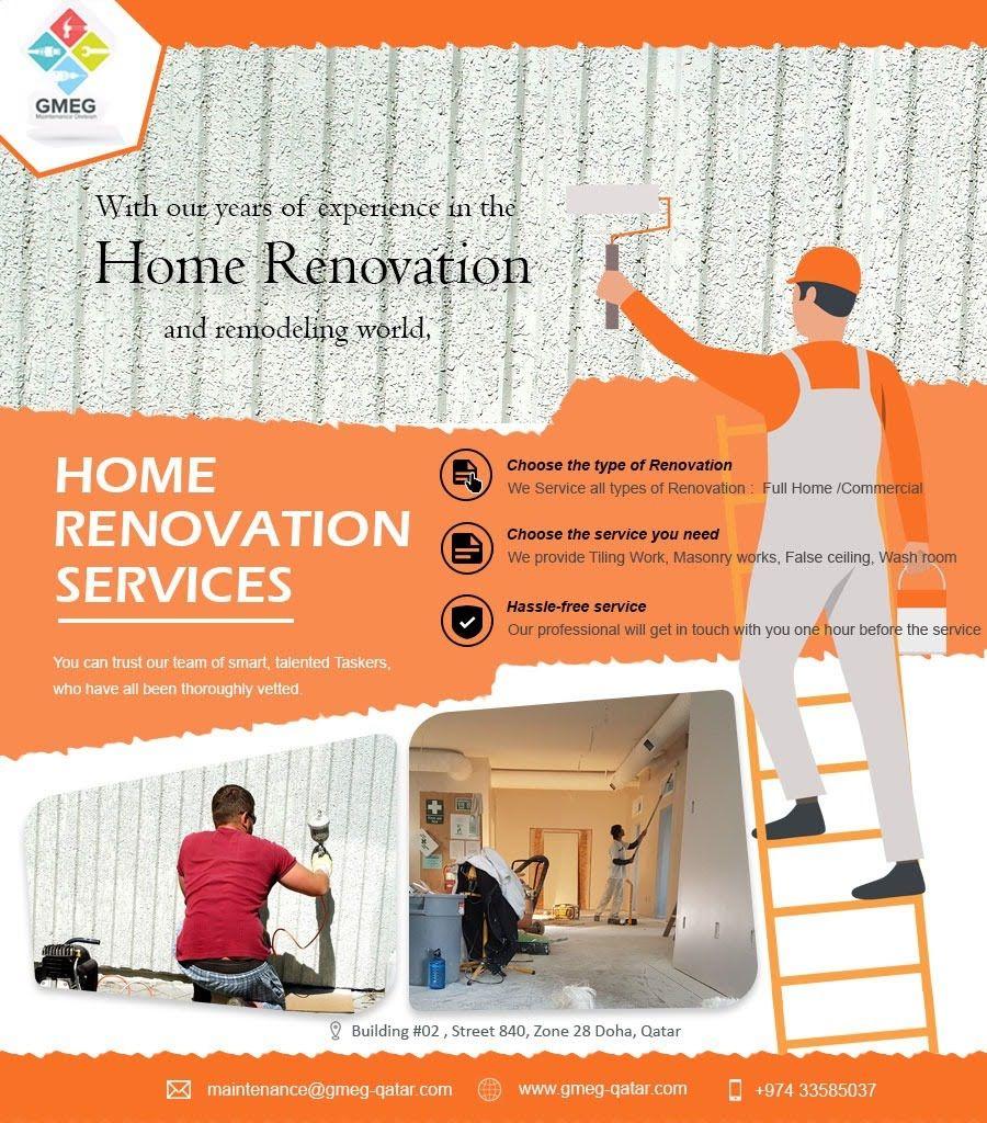 We Are A Home Renovation Maintenance Company In Doha Qatar Renovations Renovation Service Home Maintenance
