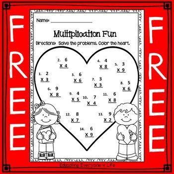 Free Multiplication Worksheet This is a fun multiplication freebie ...