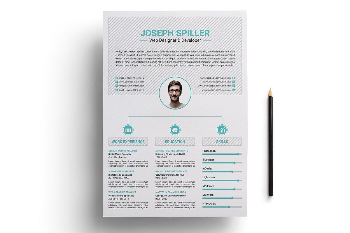 Resume Template Cv Resume Template Clean Resume Template Find Fonts