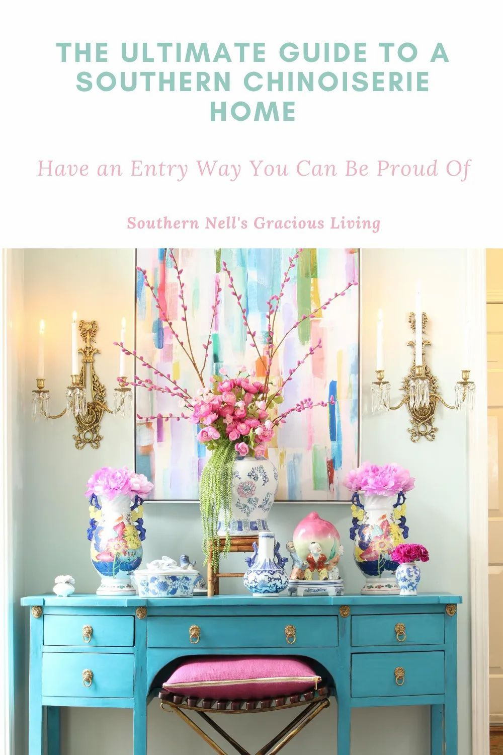 Photo of Chinoiserie Chic Style Spring Decor Home Tour