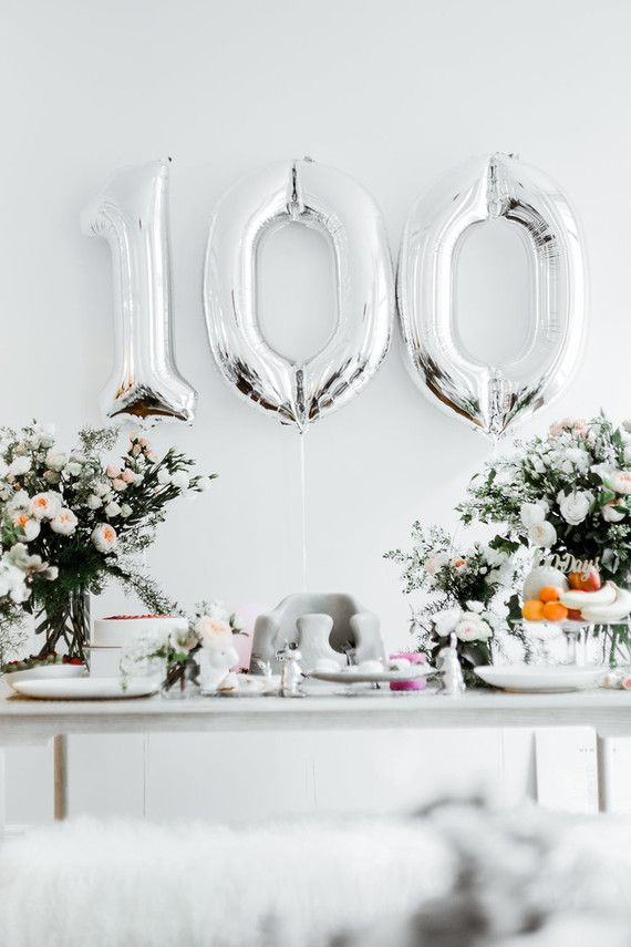 100th Birthday Idea Love The Back Drop And Floral