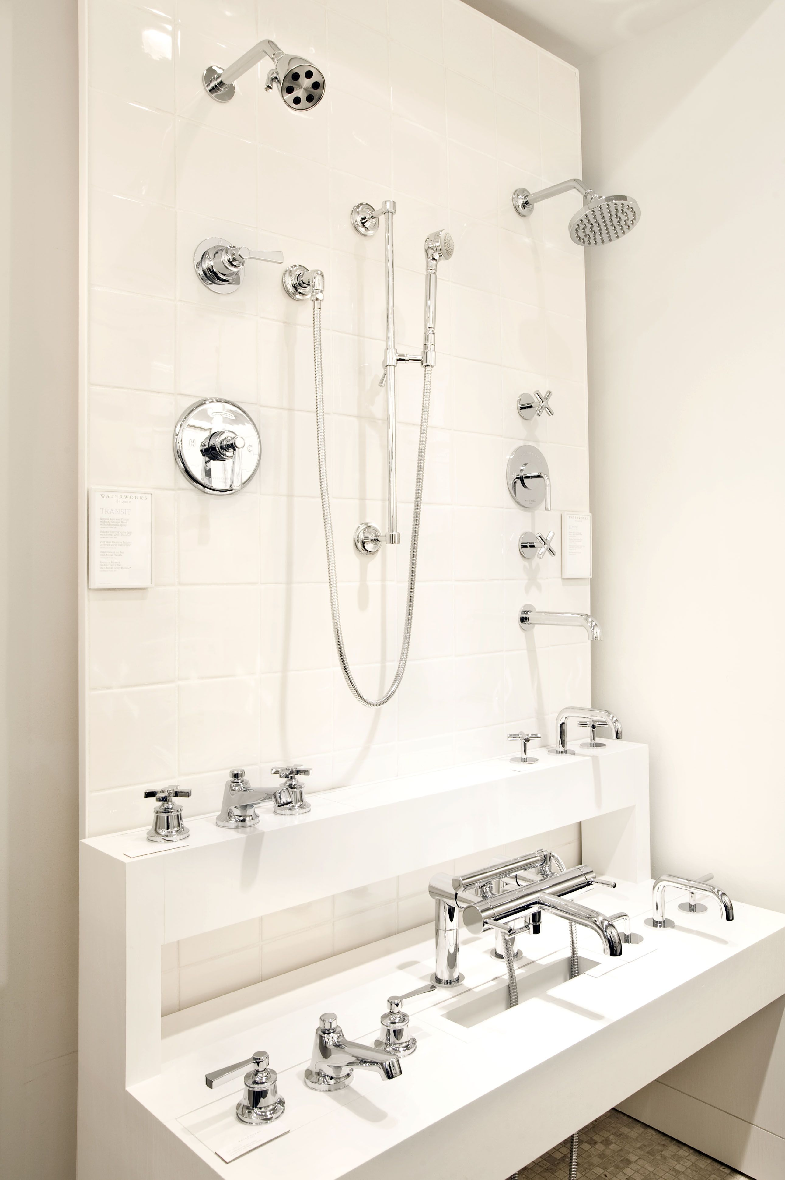 Fittings In The Denver Showroom Eclectic Bathroom Design