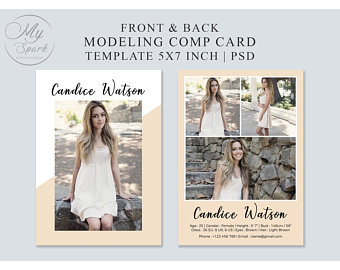 Modeling Comp Card Template Fashion Model Card Microsoft Word Photoshop And Elements Template Instant Download Mc 03 Model Comp Card Photoshop Photo Folder