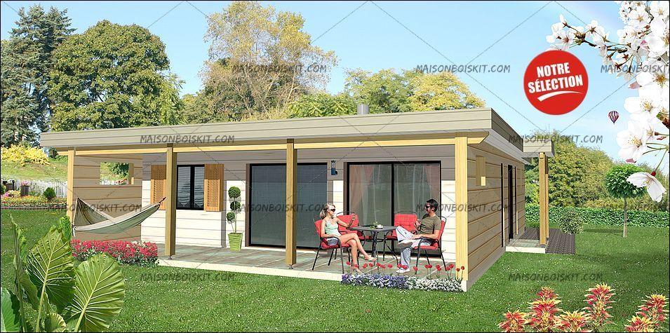 prix maison moderne 2 chambres toit plat maisons Pinterest - maison bois en kit toit plat