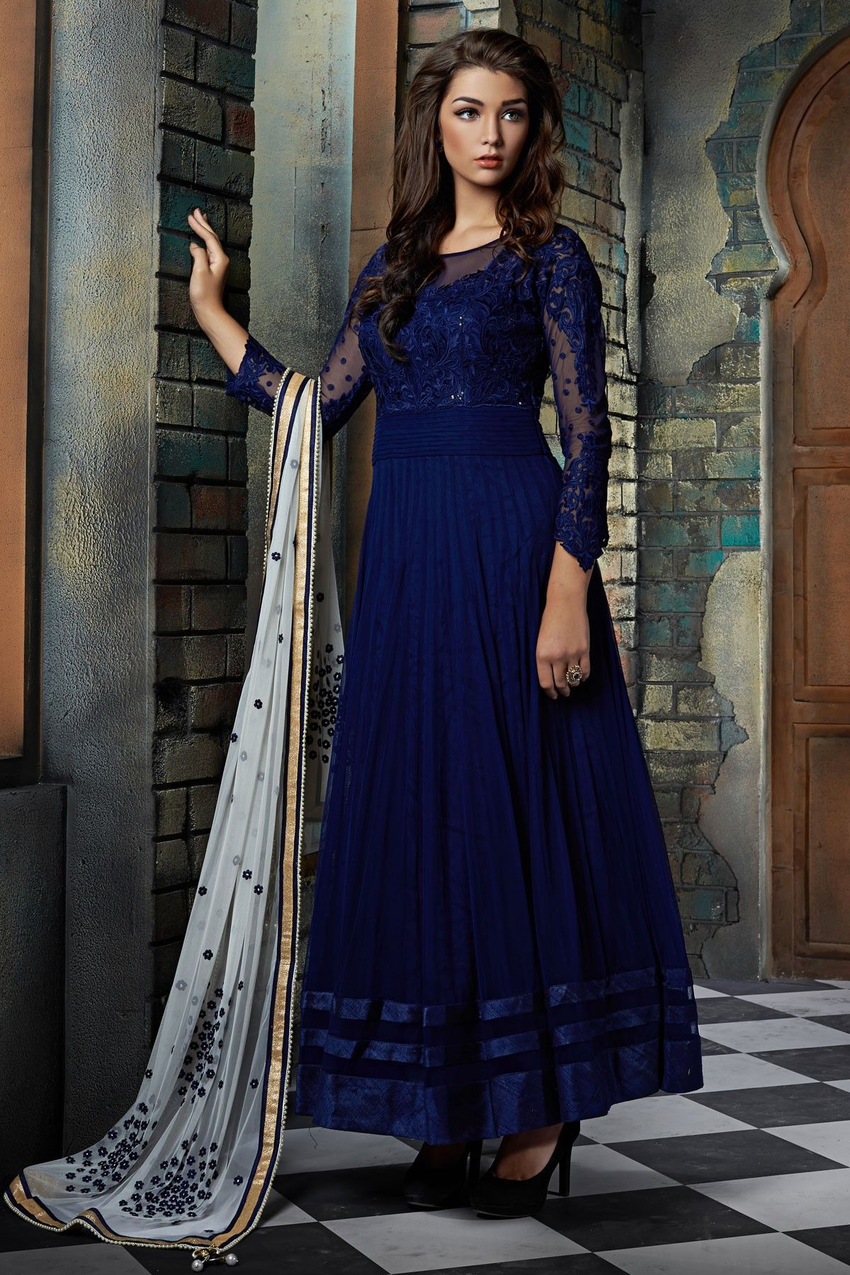 salwar-kameez/new-designer-blue-anarkali-suit Wholesale Hub Is ...