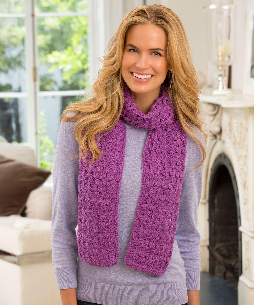 Jennifer's Scarf Free Crochet Pattern from Red Heart Yarns