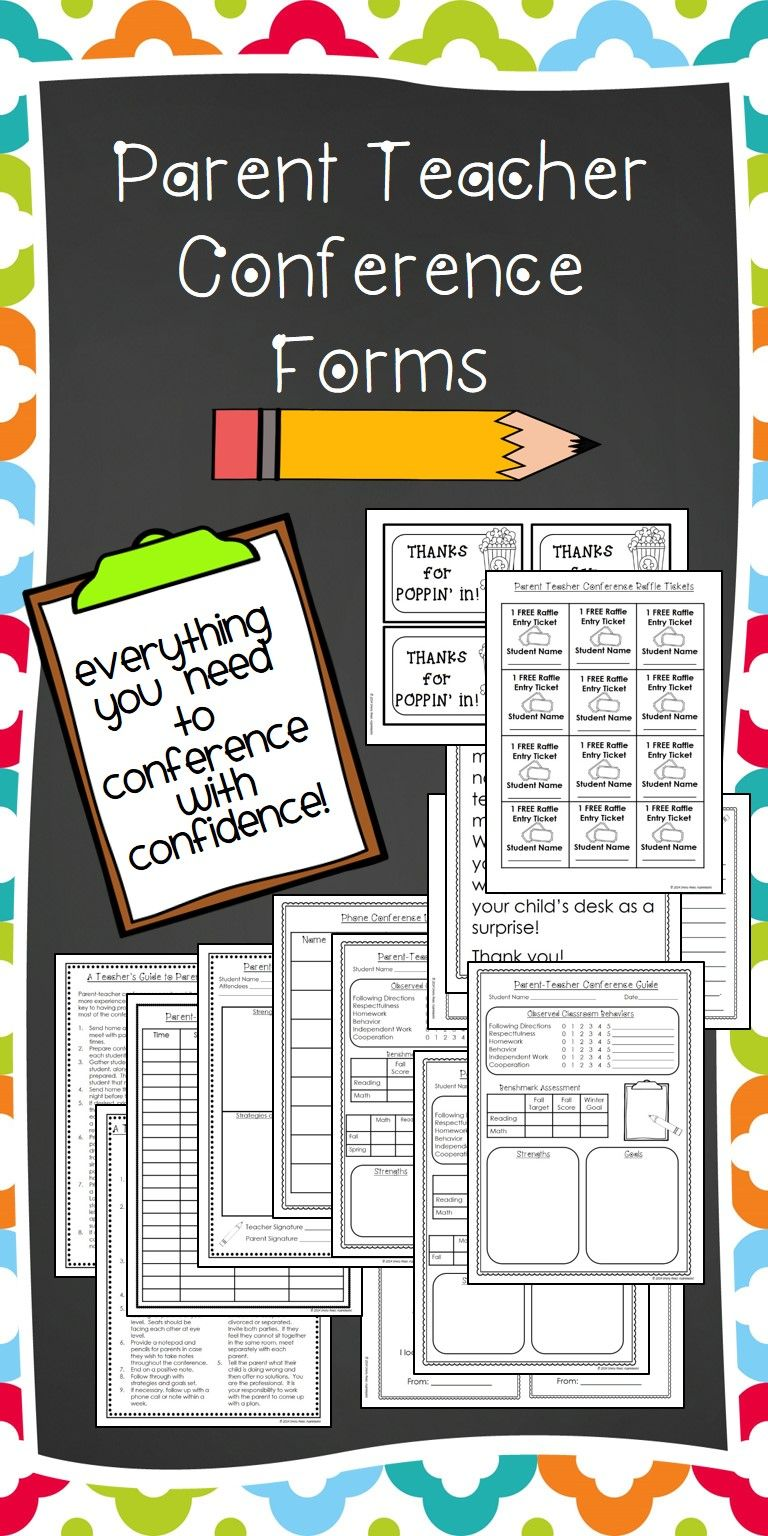 Parent teacher conference forms for parent conferences teacher wondering what to say at parent teacher conferences this kit has everything questions handouts letters schedule sign notes reminders invitations altavistaventures Gallery