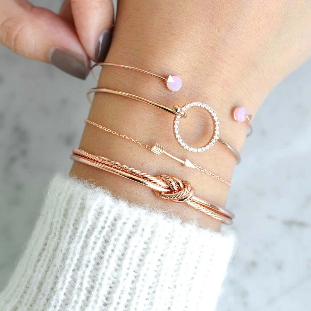 Majolie - Bracelet Jonc Ivy Rose Bonbon Or Rose – Majolie - Des bijoux prêts à offrir!