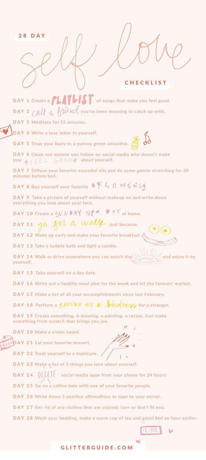 28-Day Self-Love Checklist