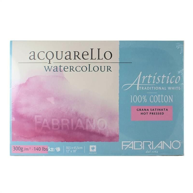Fabriano Artistico Watercolour  Hot Pressed 300 gsm
