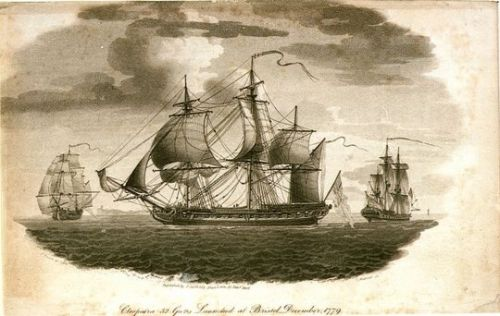 Depiction of H.M.S. Cleopatra (1805)