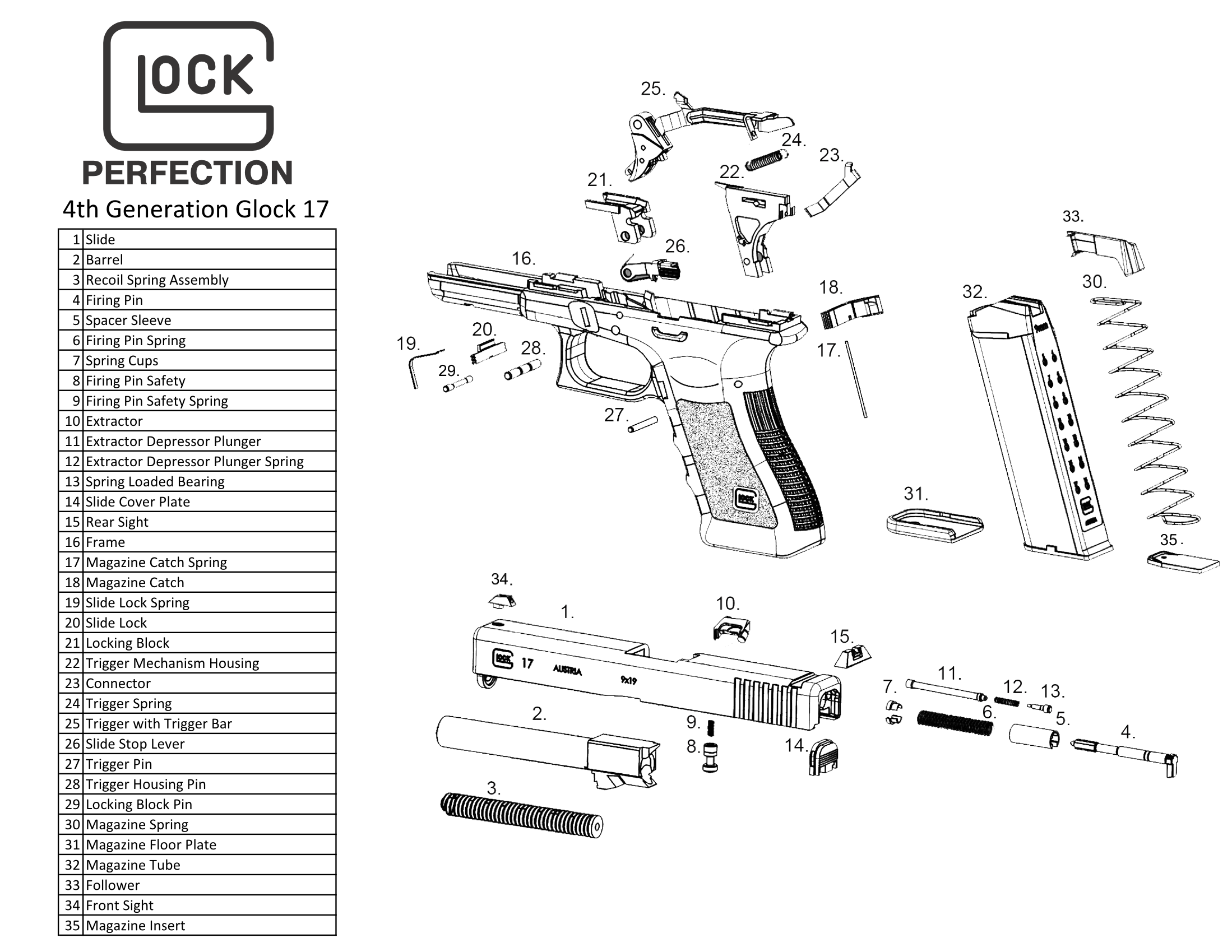 Pin On Glock 17 G17 9x19mm Magazine Loader Rae 703