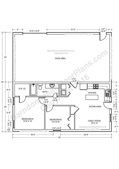Barndominium Floor Plans, Pole Barn House Plans and Metal Barn Homes ...