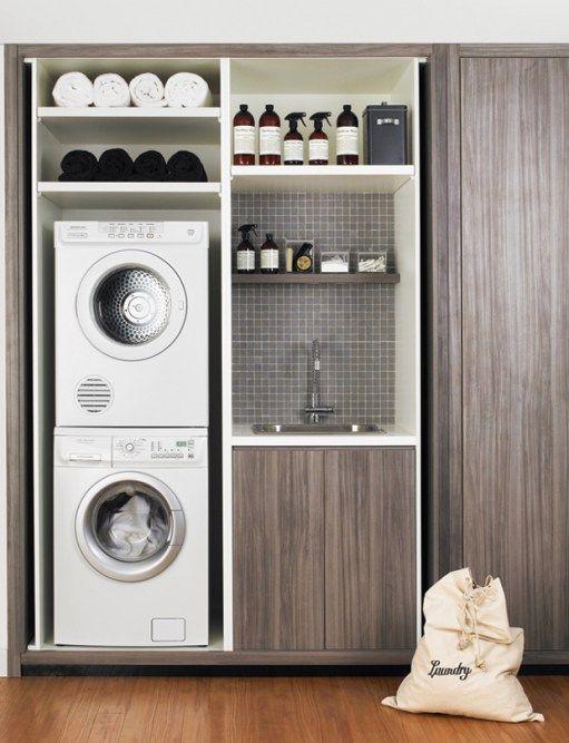 Florida Laundry Room Inspiration Laundry In Bathroom Modern