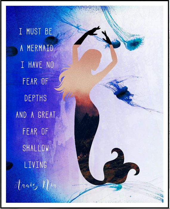 I Must Be A Mermaid Quote Mermaid Printable Jellyfish Art